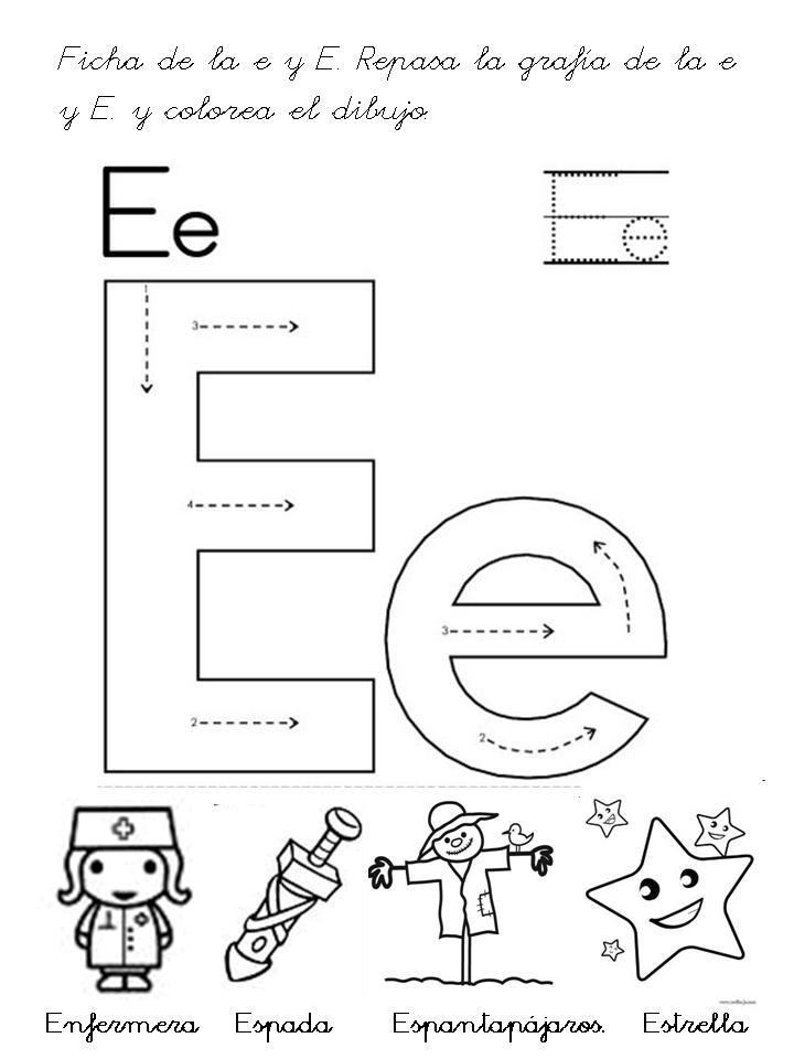 Reconocimiento de letras maestra infantil recursos y for Pesci con la e